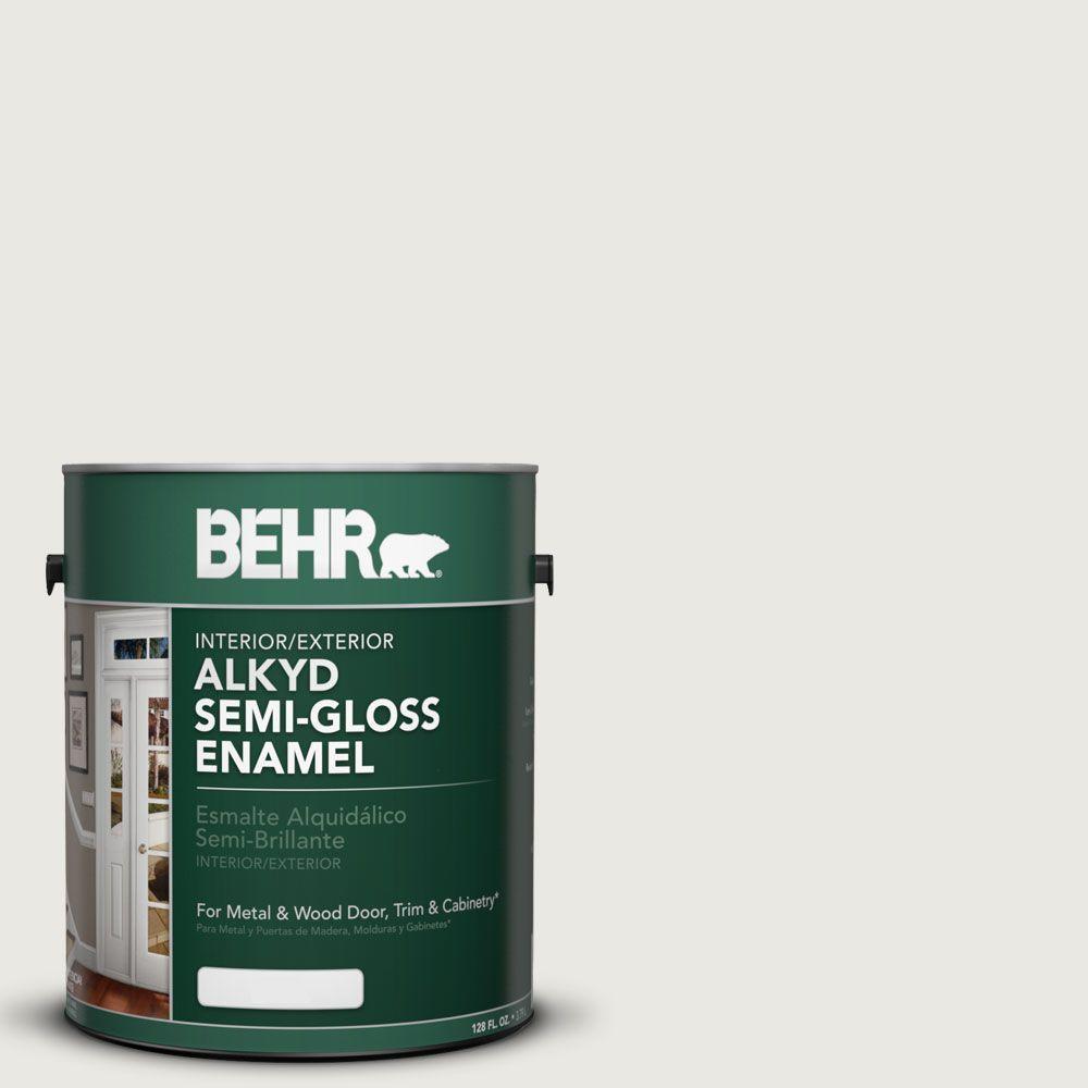 1-gal. #AE-43 Glacial Mist Semi-Gloss Enamel Alkyd Interior/Exterior Paint