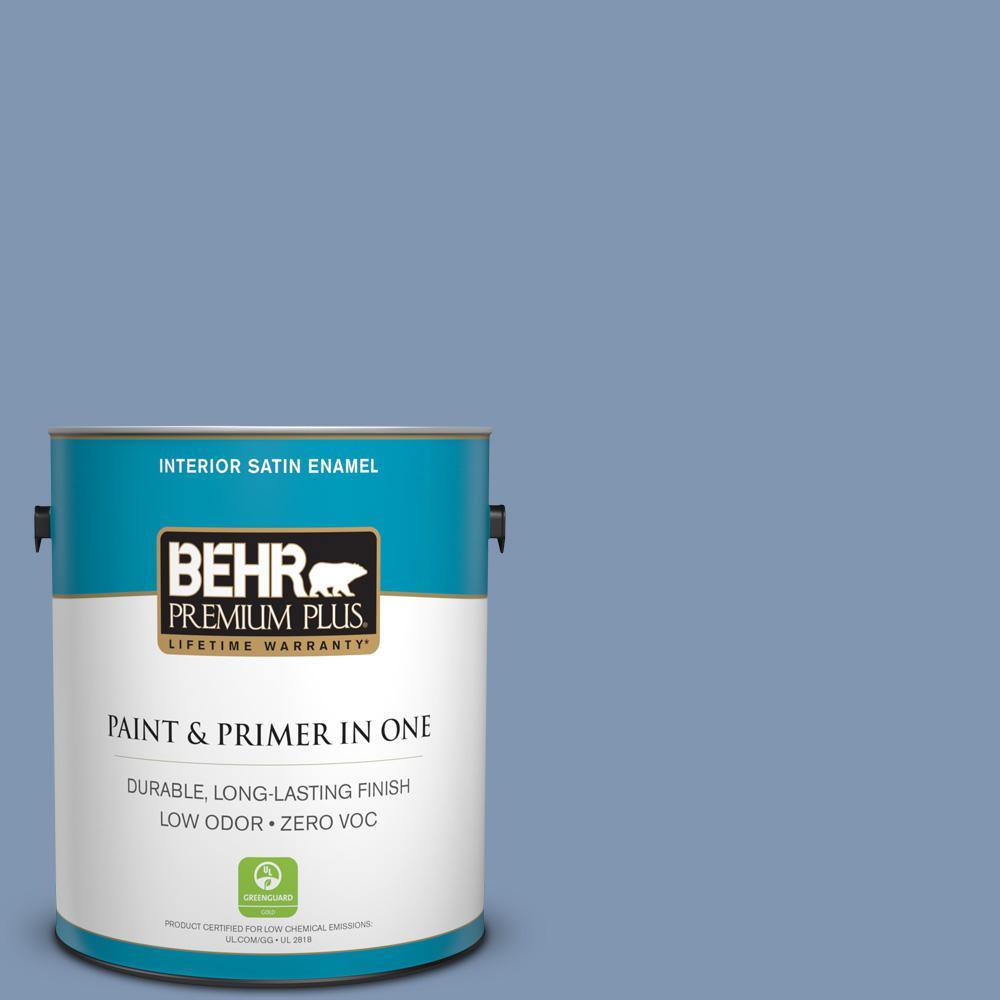 BEHR Premium Plus 1-gal. #S530-4 Jet Set Satin Enamel Interior Paint