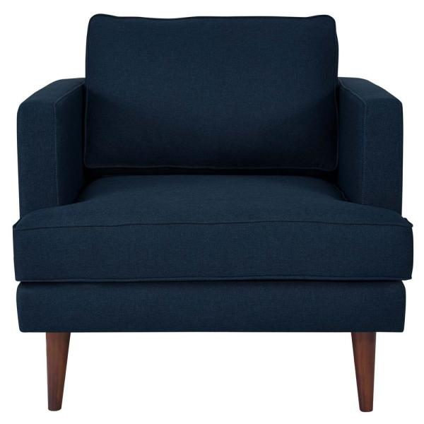 Modway Agile Upholstered Fabric Armchair in Blue EEI-3055-BLU