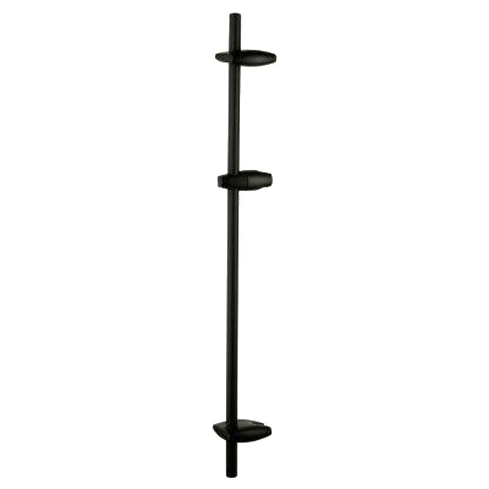 GROHE 36 in. Brass and Plastic Shower Bar in Oil Rubbed Bronze