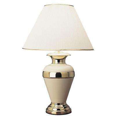 32 in. Metal Ivory Lamp