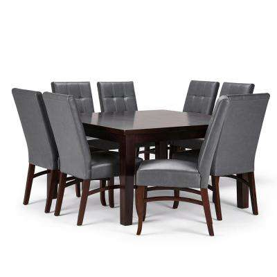 Ezra 9-Piece Stone Grey Dining Set