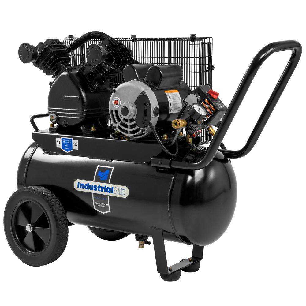 Industrial Air 11 Gal. Portable Horizontal Electric Air Compressor