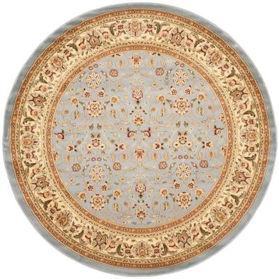 Lyndhurst Light Blue/Ivory 9 ft. x 9 ft. Round Area Rug
