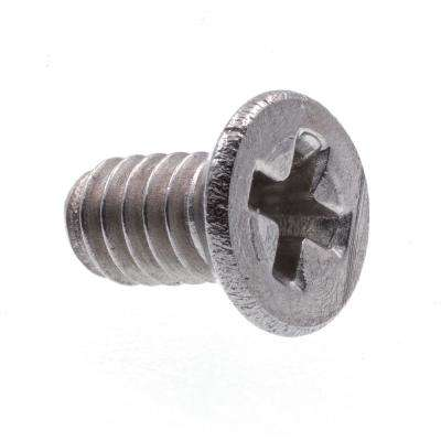 #0-80 x 1/8 in. Grade 18-8 Stainless Steel Phillips Drive Flat Head Machine Screws (25-Pack)