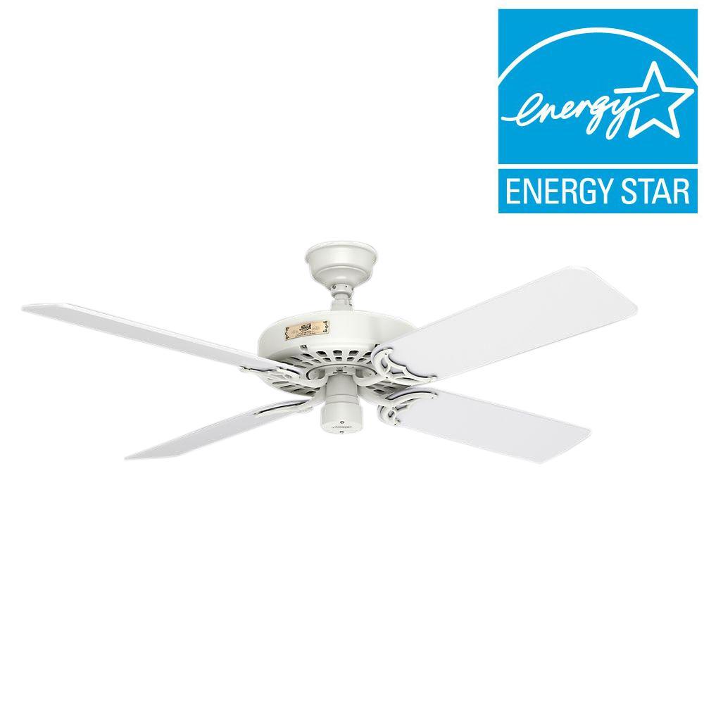 Original 52 In Indoor Outdoor White Ceiling Fan