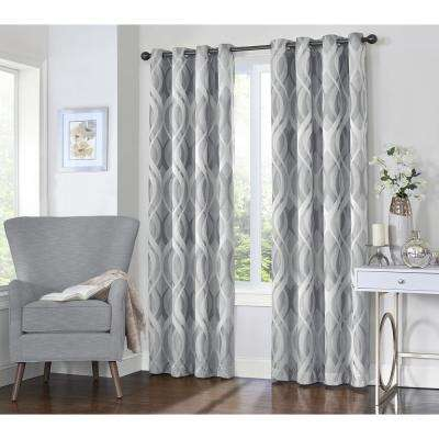 Caprese 84 in. L Silver Grommet Curtain