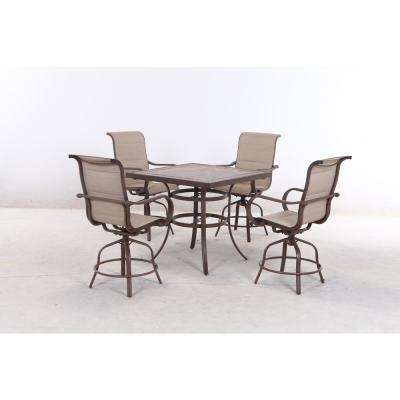 Sun Valley 5-Piece Aluminum Outdoor Bar Height Dining Set