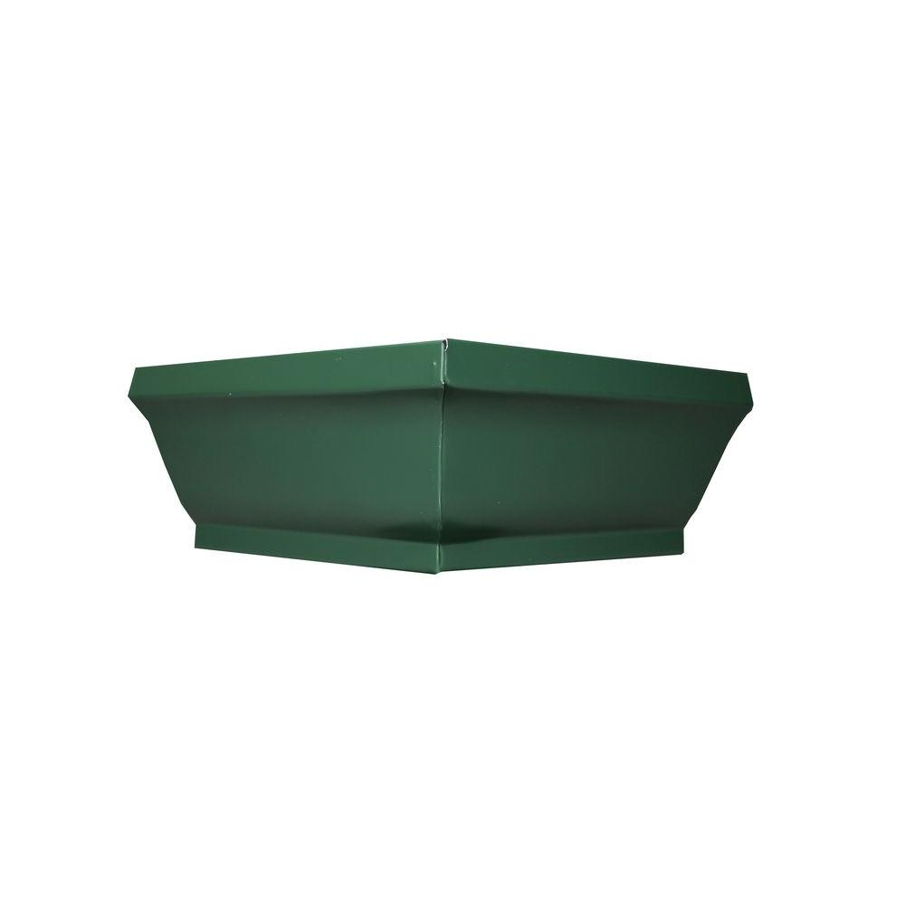 6 in. Forest Green Aluminum Outside Box Miter