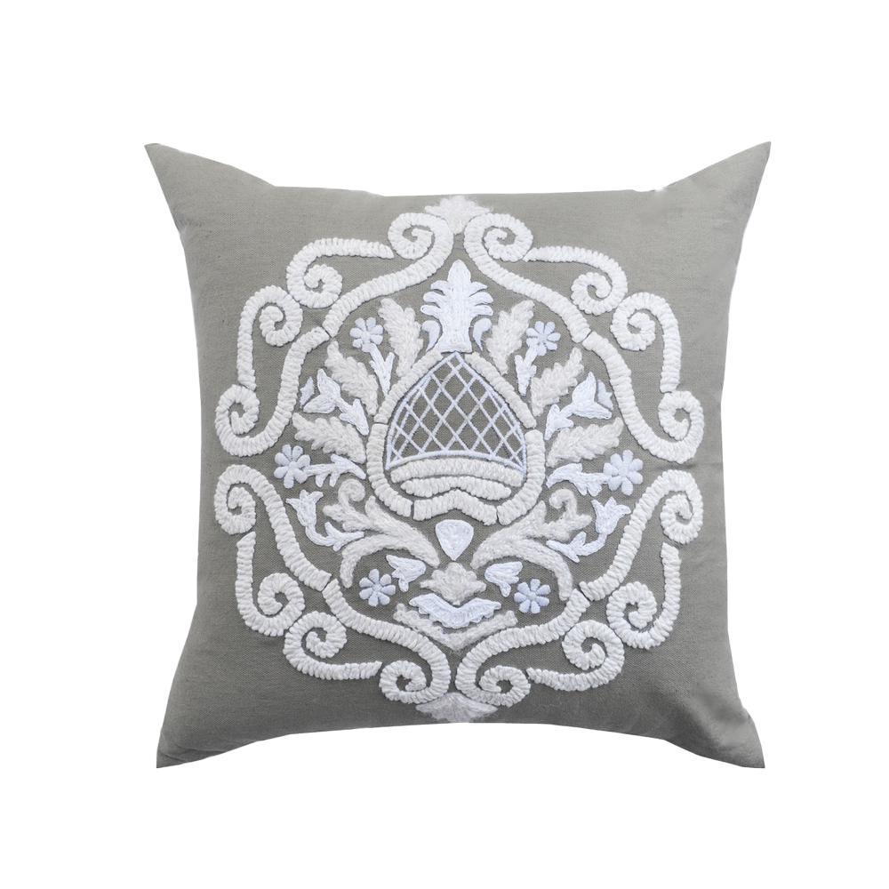 A1hc Brigid Grey Baroque Pillow A1sp093 The Home Depot