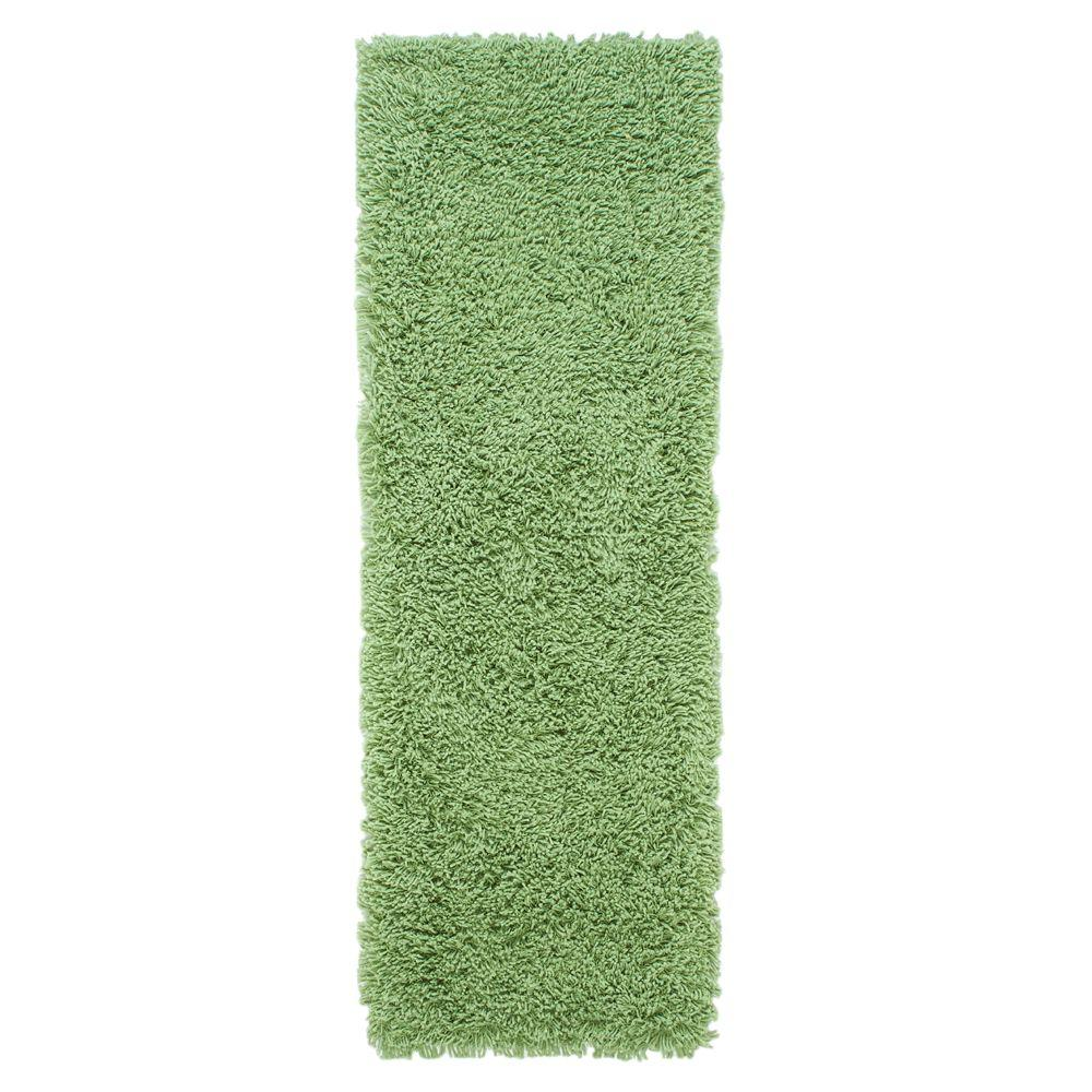 Ultimate Shag Lime Green 2 ft. 8 in. x 10 ft. Runner