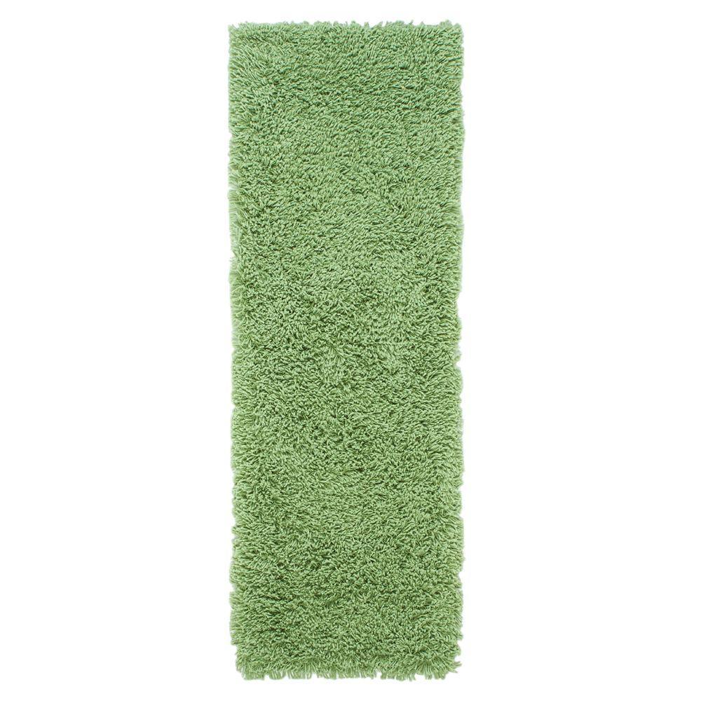 Ultimate Shag Lime Green 3 ft. x 10 ft. Runner Rug