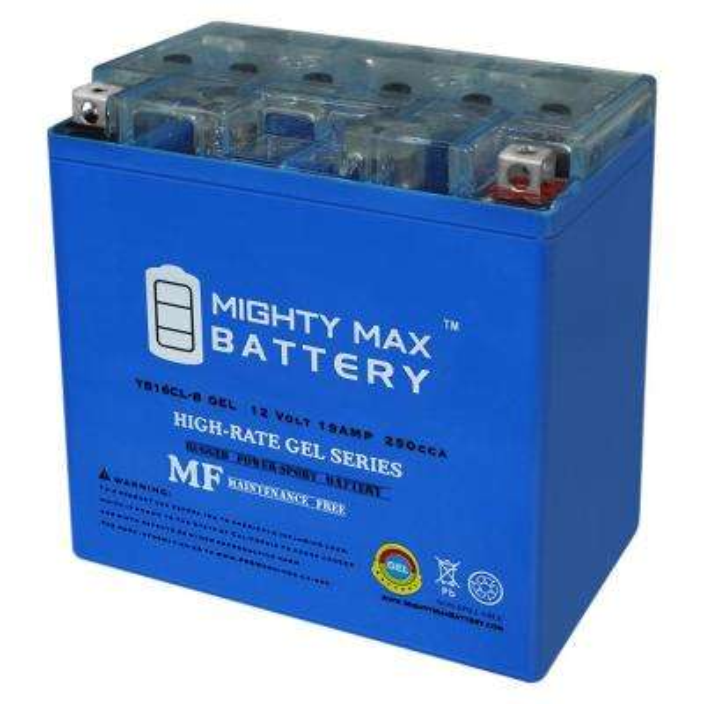 12-Volt 19 Ah 250 CCA GEL High Performance Rechargeable Sealed Lead Acid (SLA) Powersport Battery