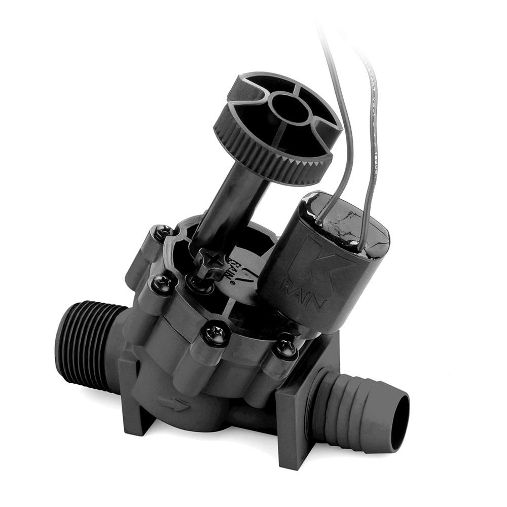 ProSeries 100 1 in. Male x Barb In-Line Valve with Flow