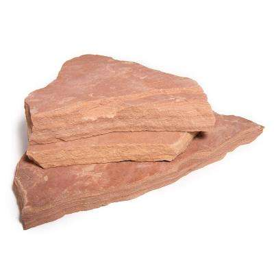 30 sq. ft. Arizona Rosa Natural Flagstone for Landscape, Gardens and Pathways