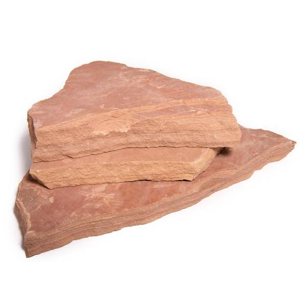Southwest Boulder Stone 16 In X 12 In X 2 In 120 Sq Ft Arizona Rosa Natural Flagstone For Landscape Gardens And Pathways 02 0183 The Home Depot