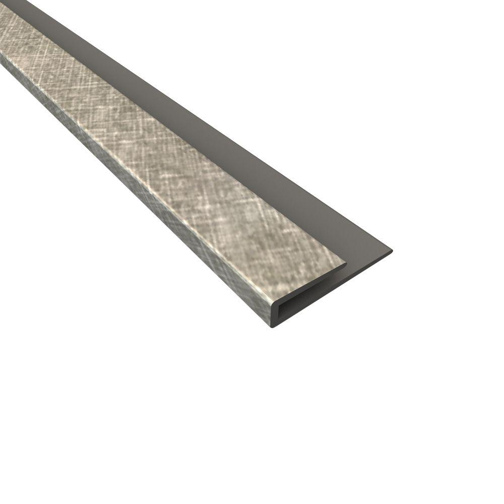 Fasade 4 ft. Large Profile J-Trim in Crosshatch Silver