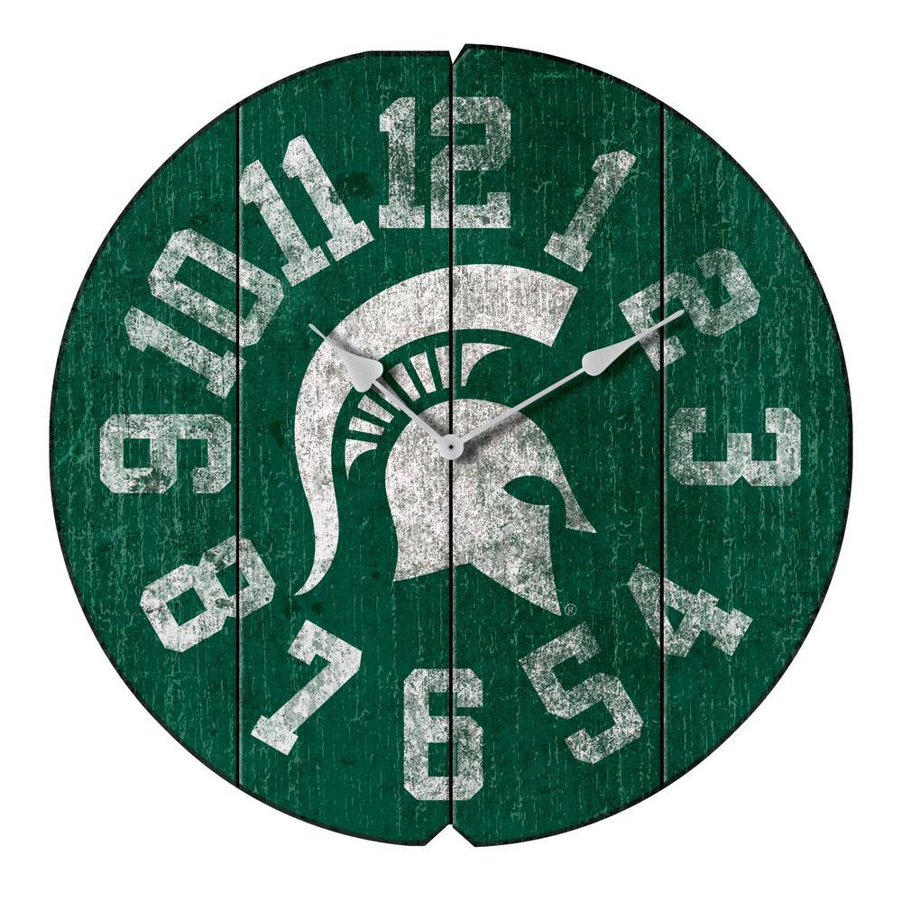 Michigan State Vintage Round Clock