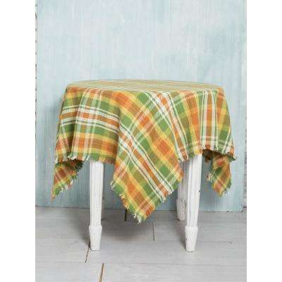 54 in. x 54 in. September Plaid Autumn Color Tablecloth