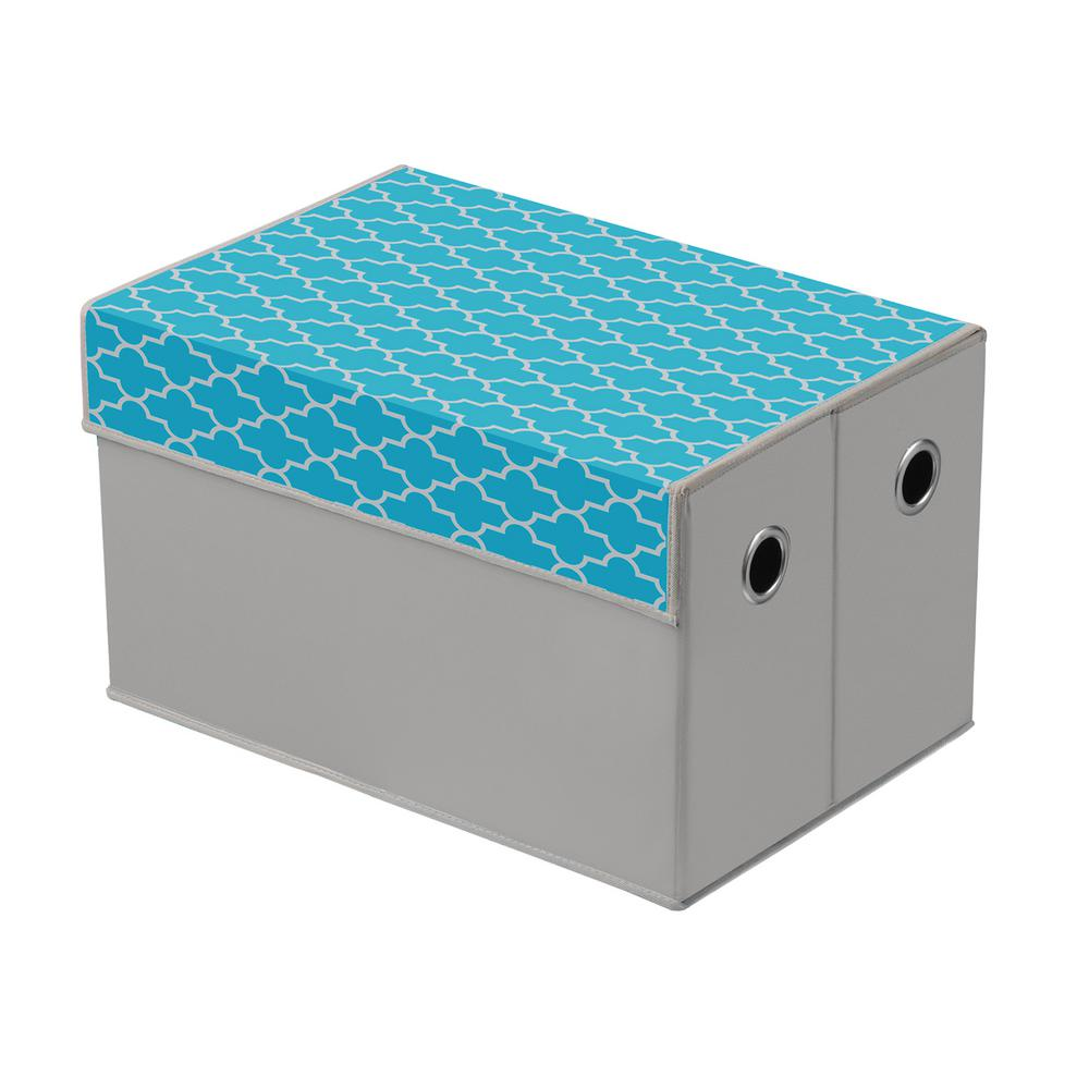 Foldable Storage Chest in Teal