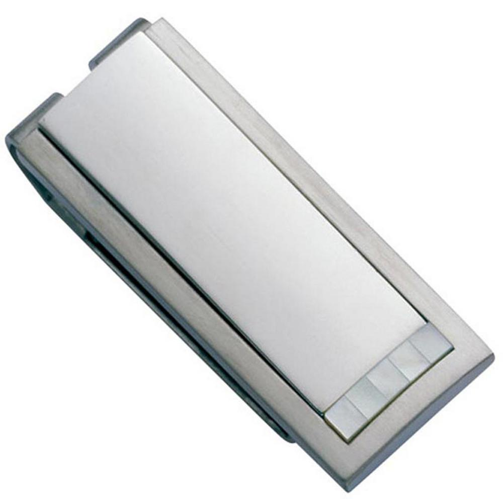 Alvaro Stainless Steel Money Clip, Grays