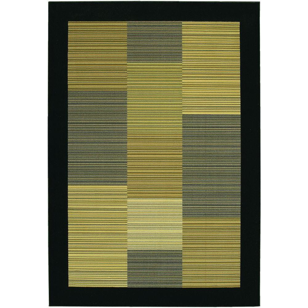 Everest Hampton Multi Stripe Black 3 ft. 11 in. x 5