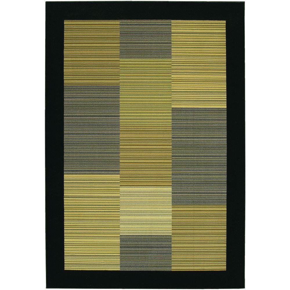 Everest Hampton's Multi Stripe Black 7 ft. 10 in. x 11