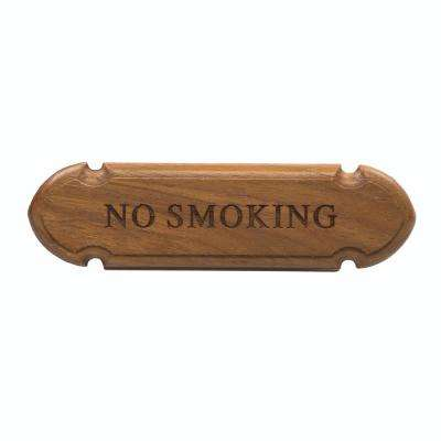 Teak No Smoking Name Plate