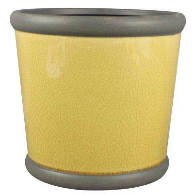 9 in. Honey Ceramic Belleville Crock Planter