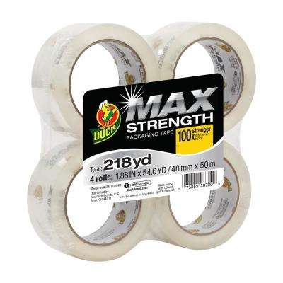 MAX Strength 1.88 in. x 54.6 yds. Packing Tape Refill, Clear (4-Pack)