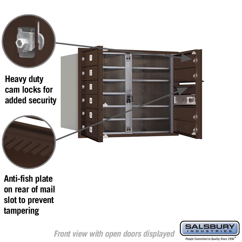 Salsbury Industries 3706D-04SFU 4C Horizontal Mailbox Sandstone