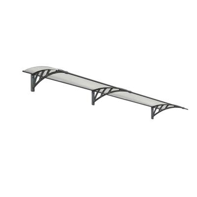 Neo 2700 8 ft. 11 in. Gray/Clear Twin-wall Door Canopy Awning