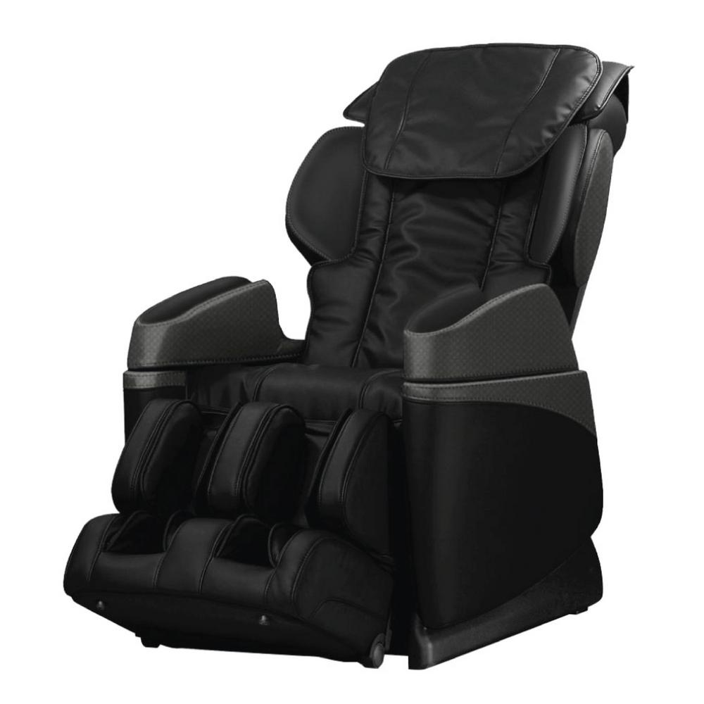 Beau TITAN Osaki Black Faux Leather Reclining Massage Chair