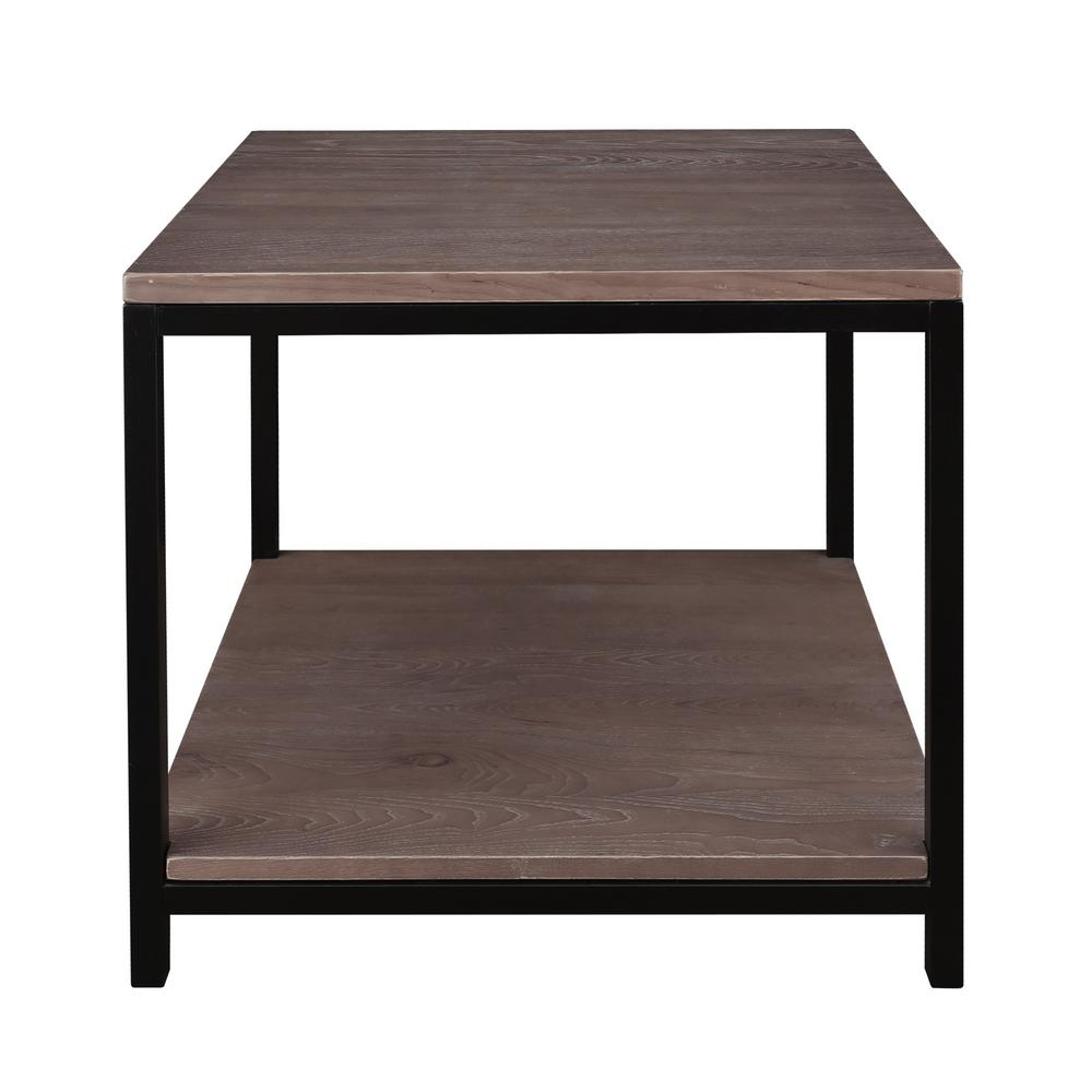 Studio Gray Washed Solid Red Oak Top/Shelf End Table