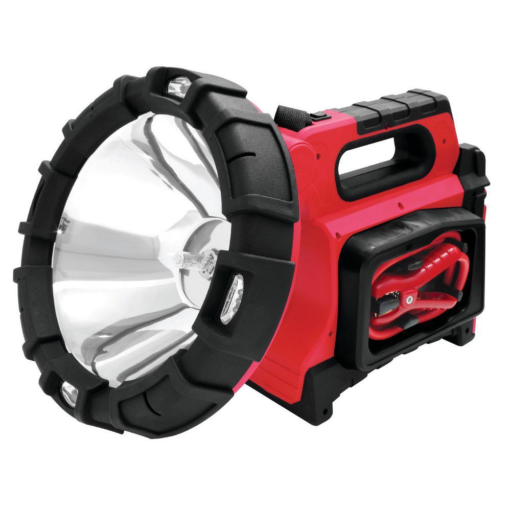 SPEEDWAY 120-Watt 5-in-1 Rechargeable Jumpstart Spotlight-53550 - The Home Depot