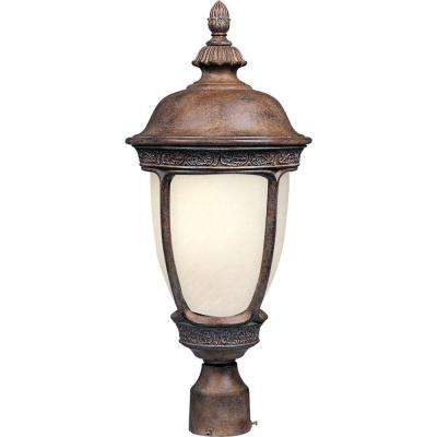 Knob Hill Energy Efficient 1-Light Sienna Outdoor Pole/Post Mount