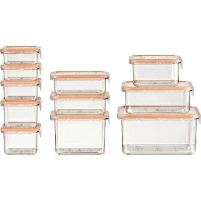 22-Piece Clear Food Storage Container Set