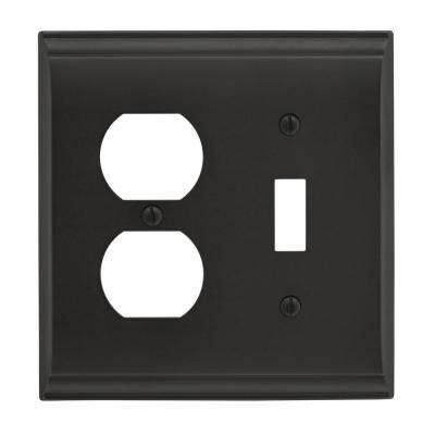 Candler 1 Toggle, 1 Receptacle Black Bronze Wall Plate