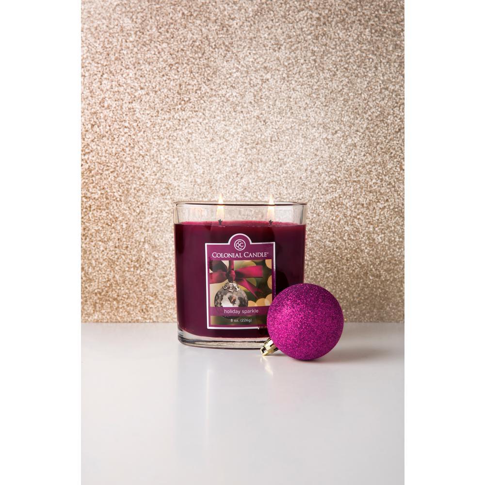22 oz. Holiday Sparkle Oval Jar Candle