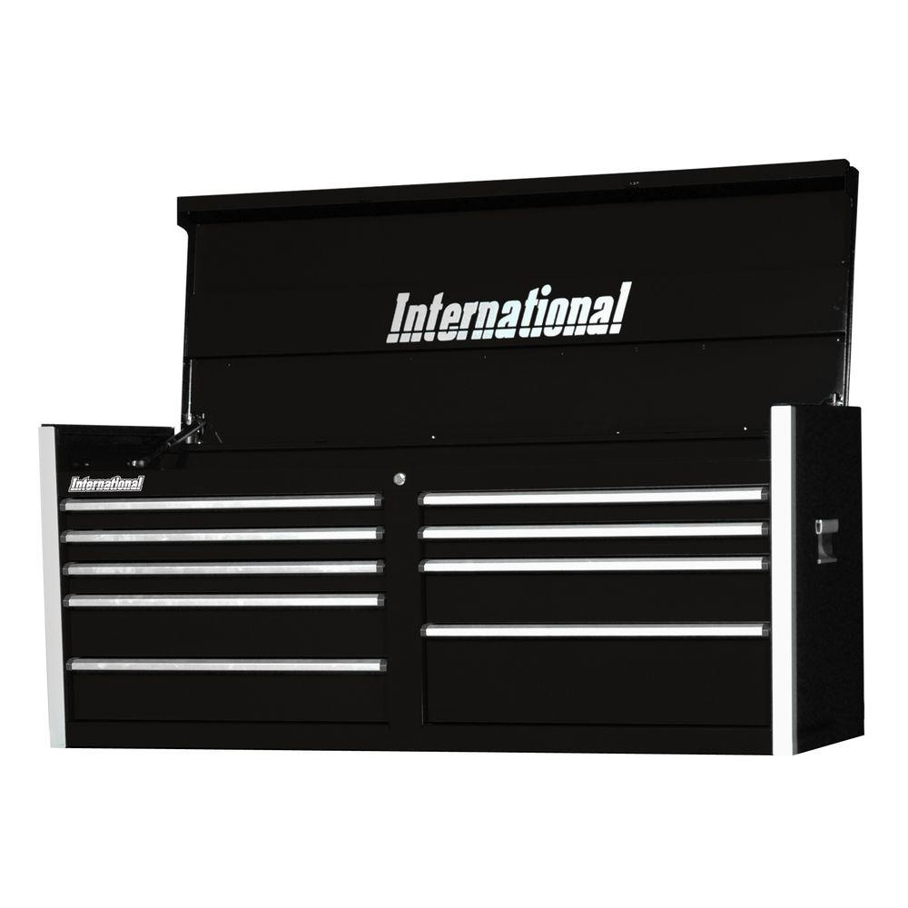 Pro Series 54 in. 9-Drawer Top Chest, Black