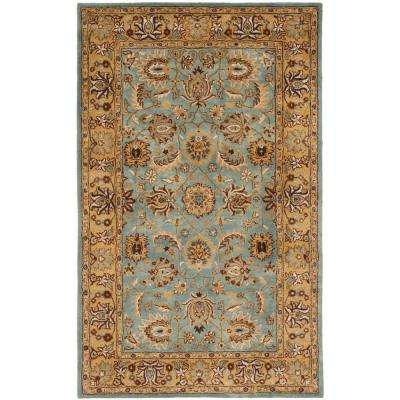 Heritage Blue/Gold 6 ft. x 9 ft. Area Rug