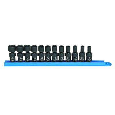 1/4 in. Drive Universal Impact Socket Set (12-Piece)