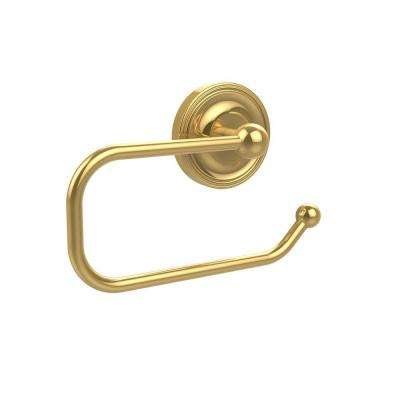 Regal Collection European Style Single Post Toilet Paper Holder in Polished Brass