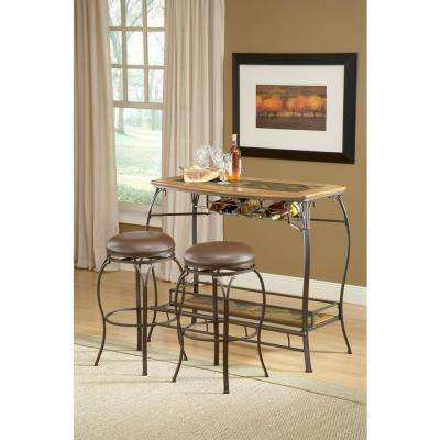 Lakeview 24.38 in. Brown Backless Counter Stool