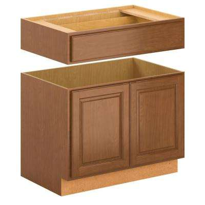 Madison Assembled 36x34.5x24 in. Accessible Sink Base Cabinet in Cognac