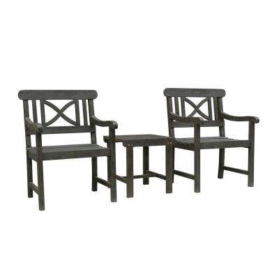 Renaissance 3-Piece Wood Patio Conversation Set