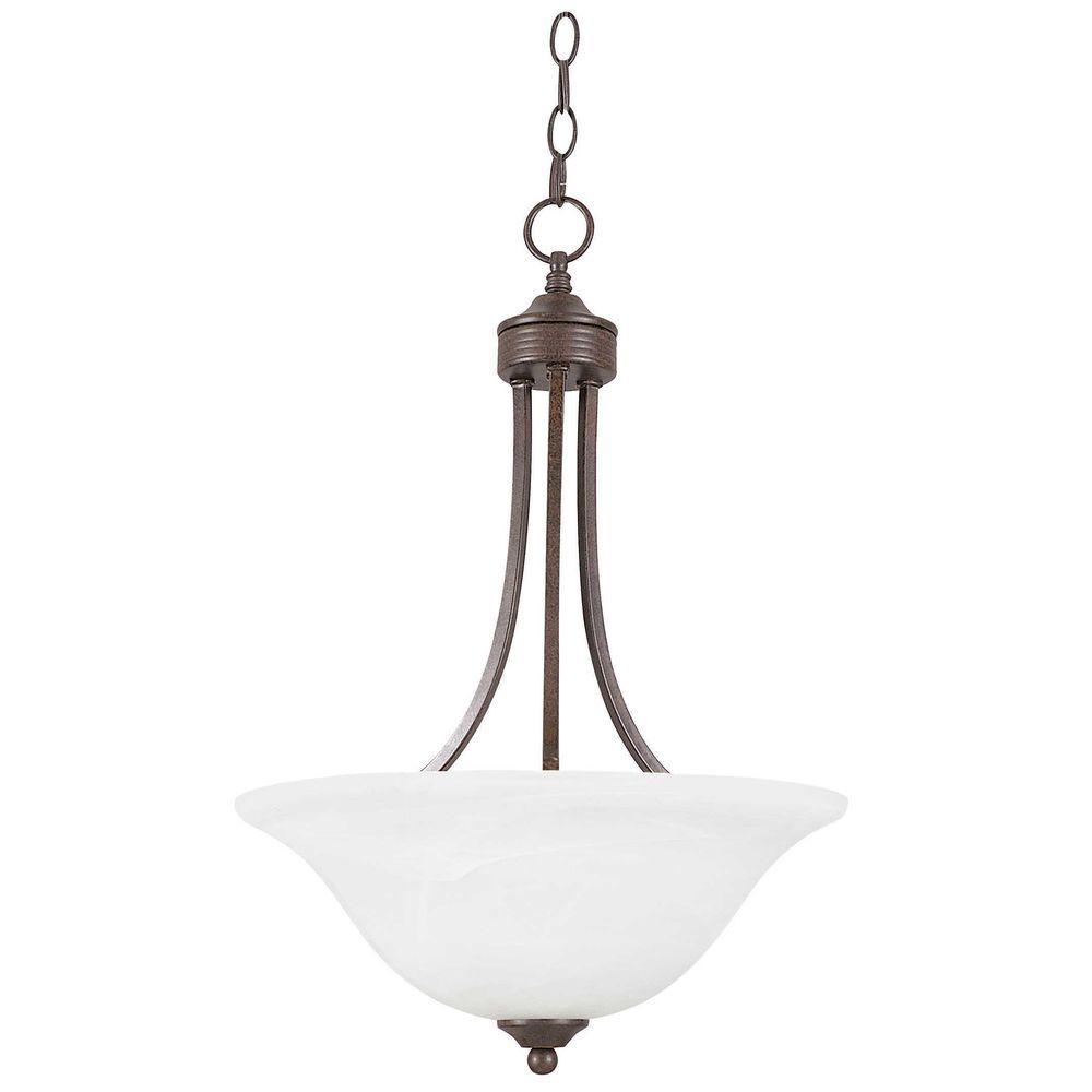 Metropolitan 3-Light Rubbed Bronze Bowl Pendant