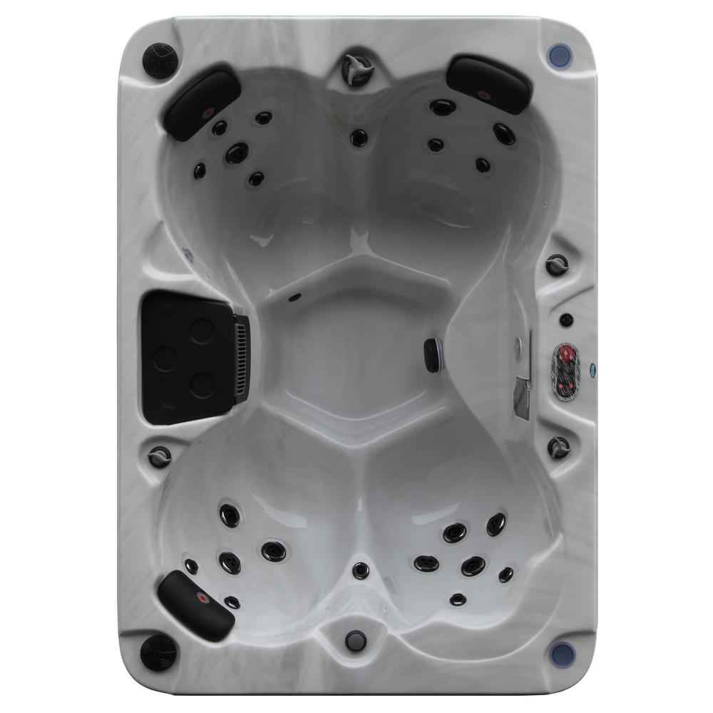 Canadian Spa Company Calgary Plug And Play 4 Person 24 Jet Standard Hot Tub With Led Lighting