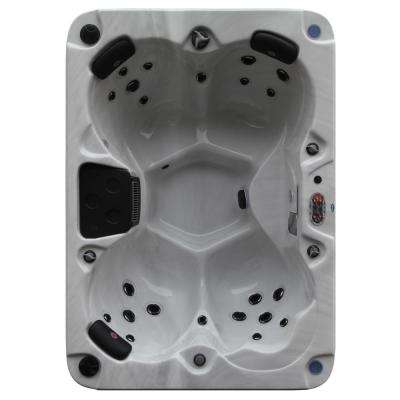 Calgary Plug and Play 4-Person 24-Jet Standard Hot Tub With LED Lighting