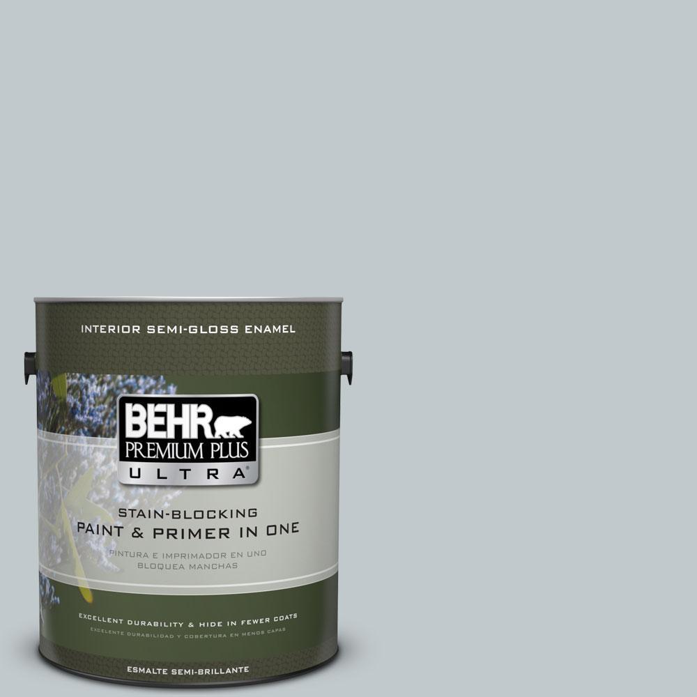 1-gal. #730E-3 River Rock Semi-Gloss Enamel Interior Paint